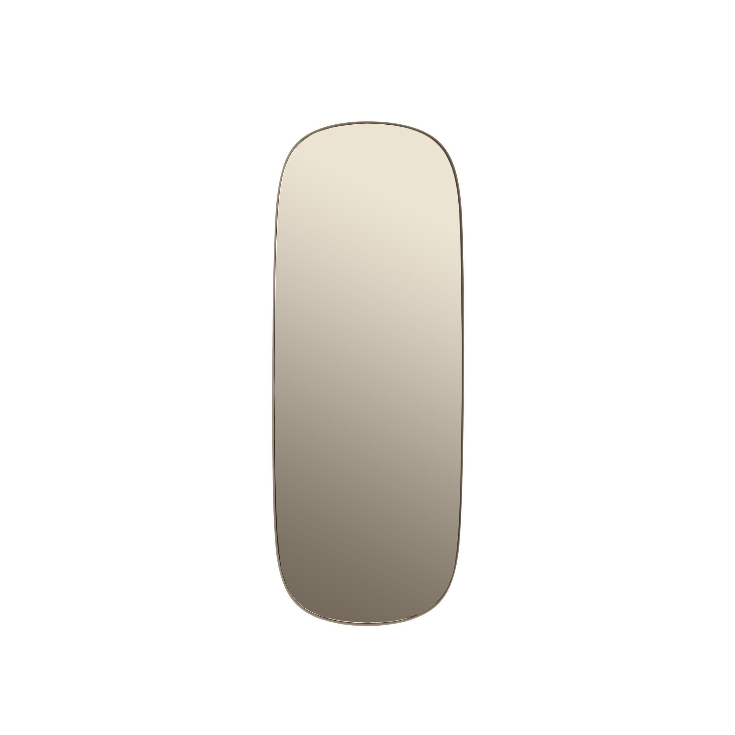 Framed mirror large taupe