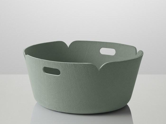 Restore basket round dusty green