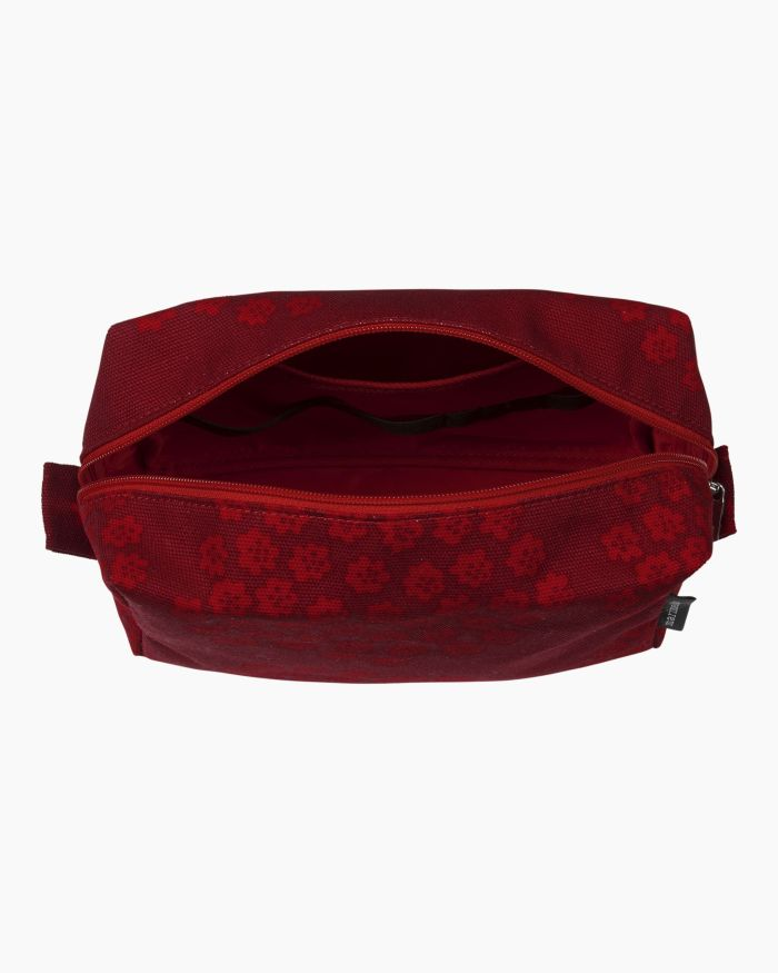 Vilja Puketti cosmetic bag dark red/red