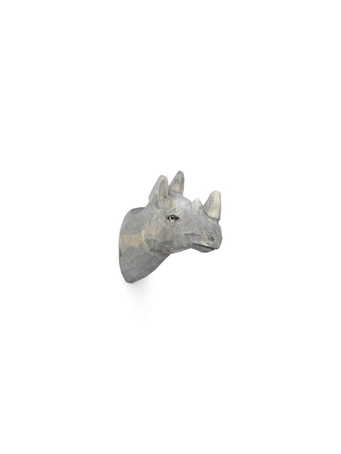 Animal hand-carved hook rhino