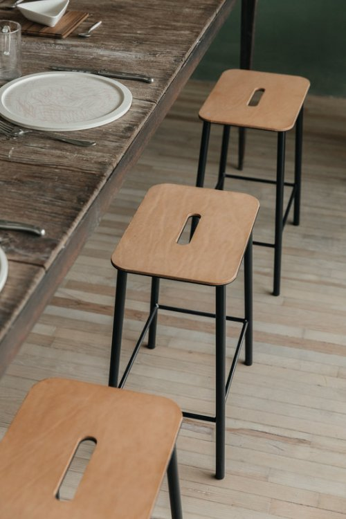 Frama Adam Stool H50 Oak/Black