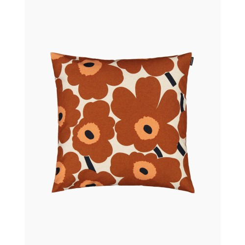 Marimekko Pieni Unikko Cushion Cover 50x50 Brown Orange