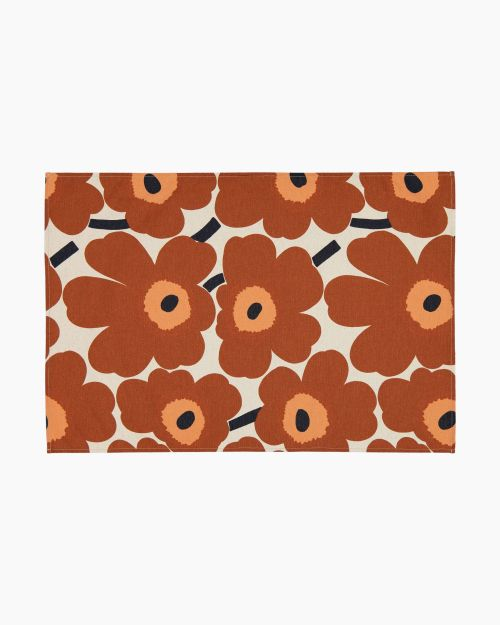 Marimekko Pieni Unikko Kitchen Towel Brown/Orange