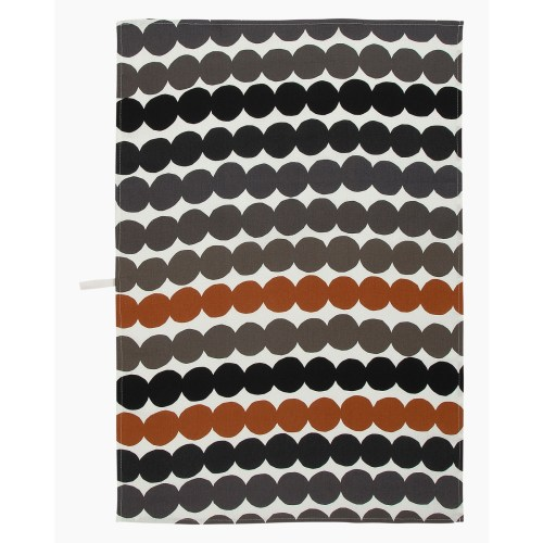 Marimekko Rasymatto Kitchen Towel Black/Grey/Brown