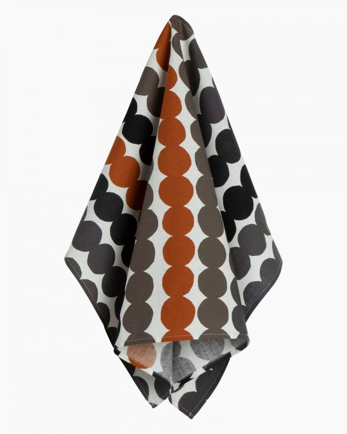 Marimekko Rasymatto Kitchen Towel Black/Grey/Brown