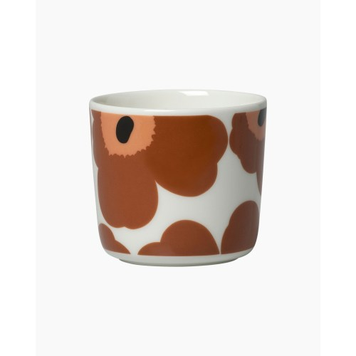 Marimekko Unikko Cup w/o handle Brown Orange