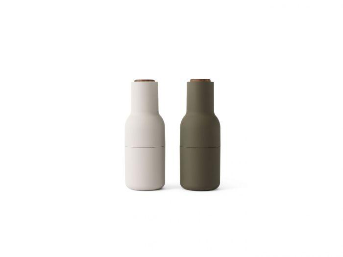 Menu Bottle Grinder Walnut Lid Hunting Green/Beige 2-pack