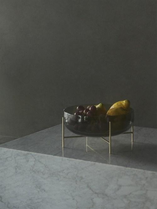 Menu Echasse Bowl L Smoke Glass/Brushed Brass