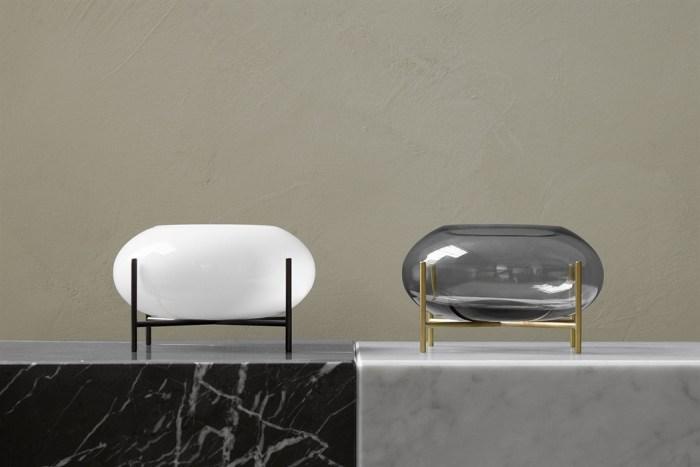 Menu Echasse Hurricane Opal Glass/Bronzed Brass