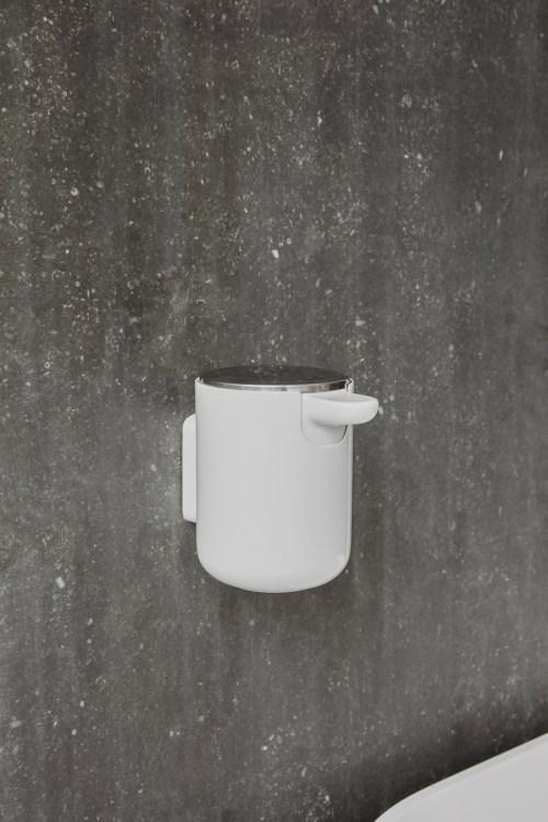Menu Soap Pump Wall Shiny White