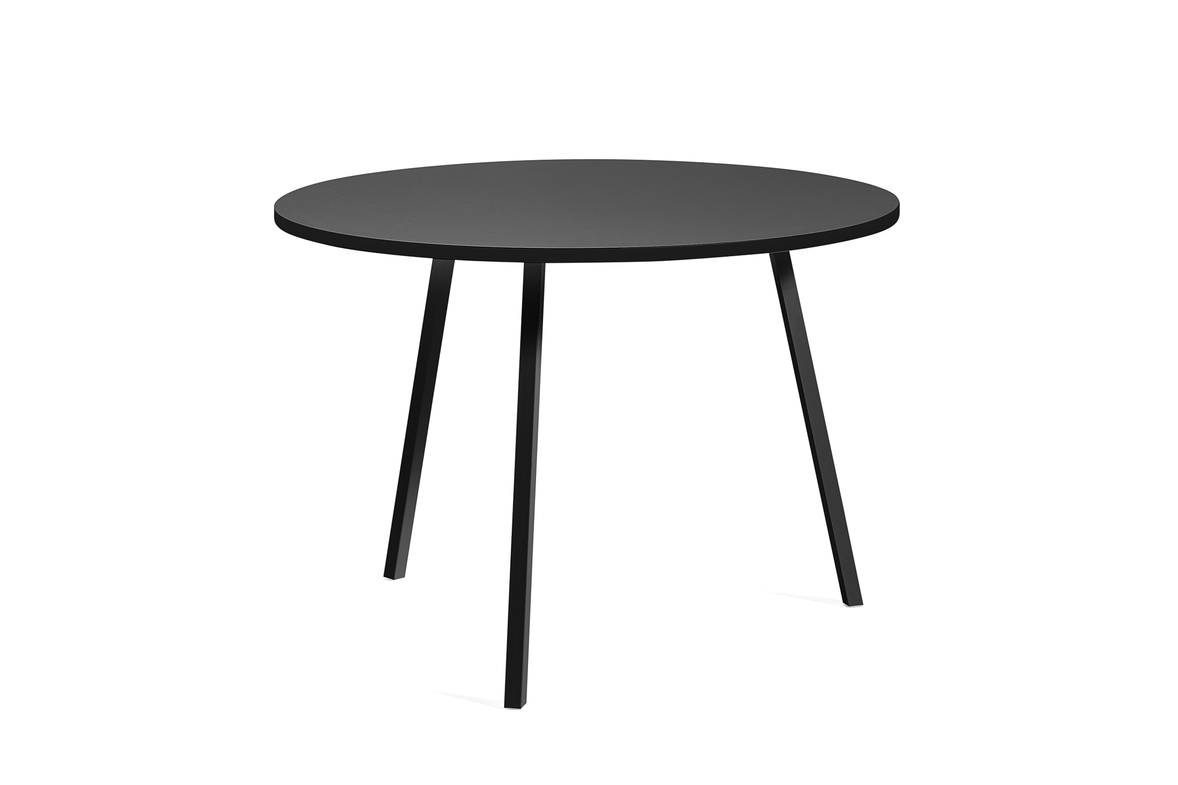 Loop stand round table black 105 cm