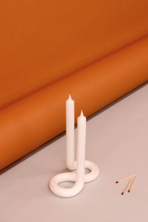 Lex Pott Twist Candle White