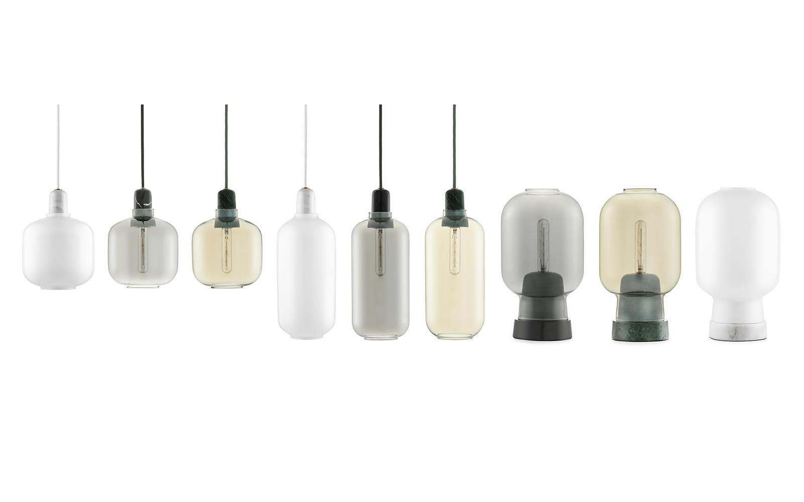 Amp lamp white/brass Large