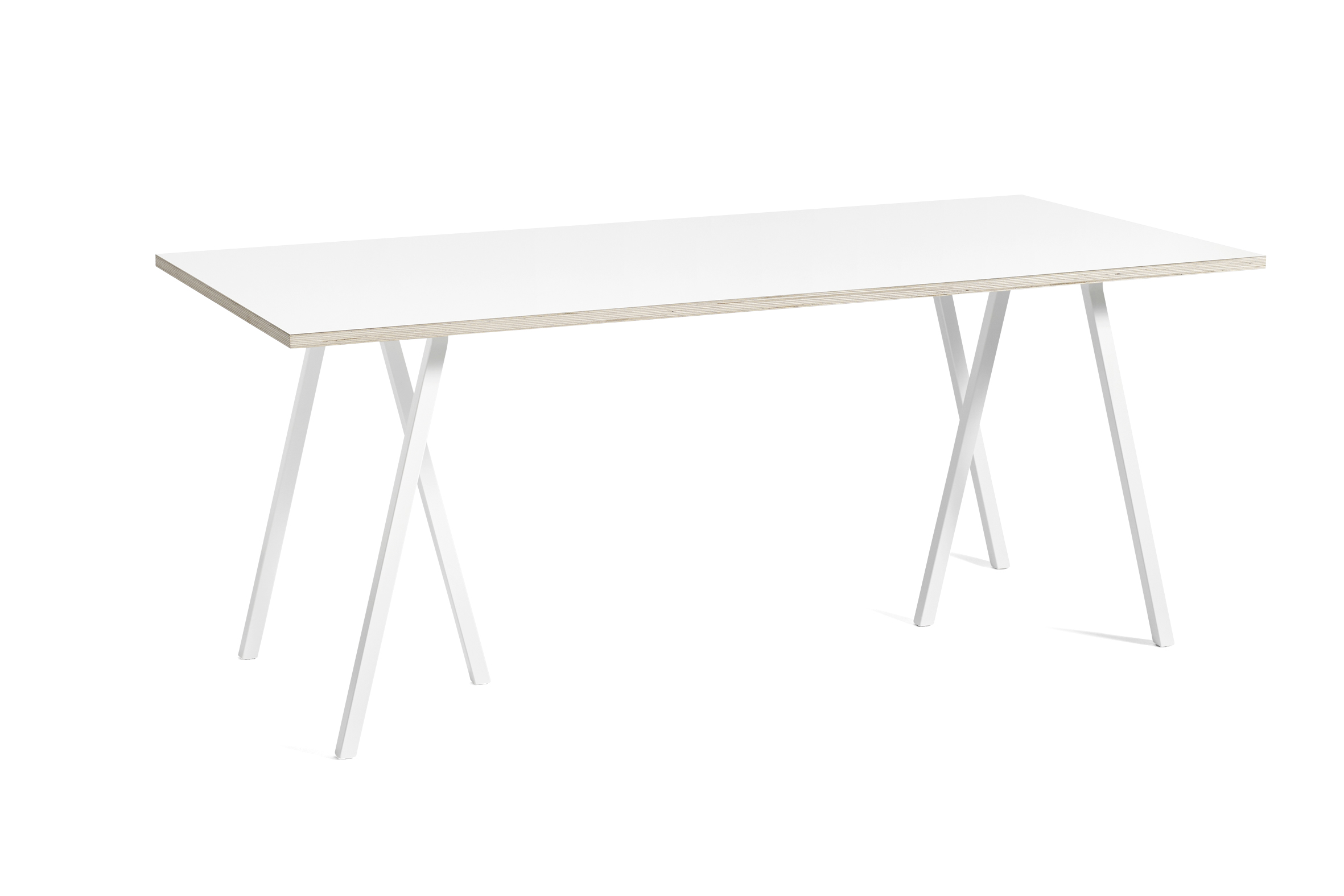 Loop stand table white laminate 180 cm