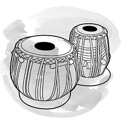 Drawing of tabla