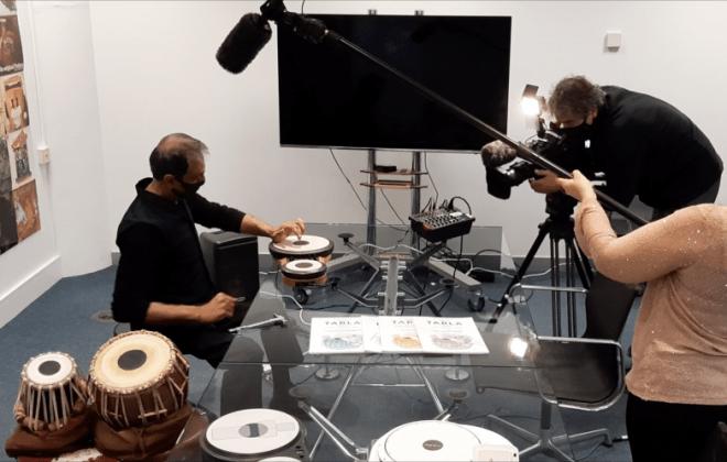 BBC Filming Kuljit playing tabla