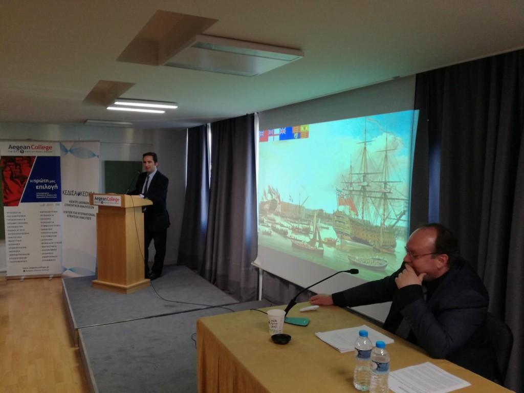 Ο Ιδρυτής & Πρόεδρος Δ.Σ. του ΚΕΔΙΣΑ Ανδρέας Γ.Μπανούτσος προλογίζει τον εισηγητή του εκπαιδευτικού σεμιναρίου Δρ. Ηλία Ηλιόπουλο