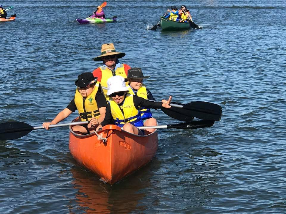 Kedron Cub Scouts Canoeing Brownsea