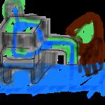 【アクアテラリウム】陸地製作!トンネル効果で奥行き感!?