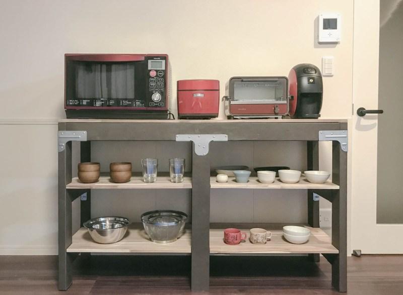 【diy/003】キットを応用した-食器棚-