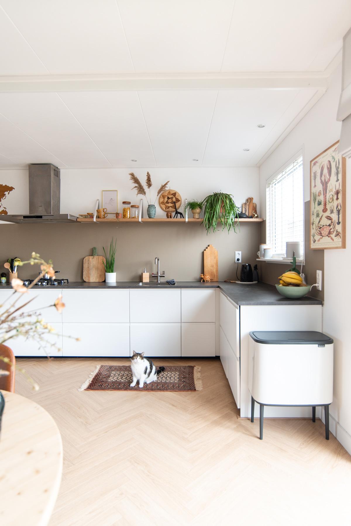 verandering keeelly91 keuken kitchen eclectic bohemian handles and more vesting paint brabantia vintage inspiratie interieur