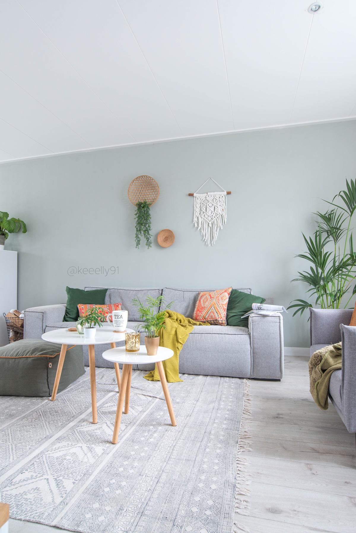 keeelly91 kussens oranje aztec woonexpres bank demeern grijs groene muurkleur planten