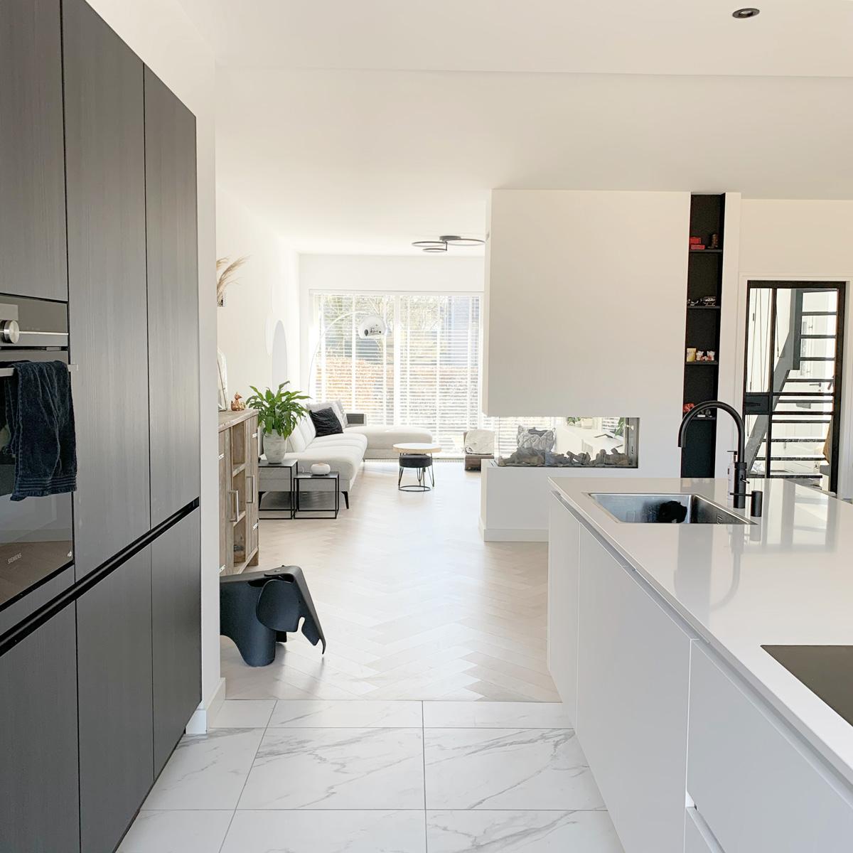 tijdloos haard woonkamer inspiratie naturel keuken kitchen design