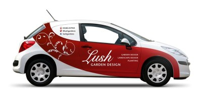 Vehicle wrap design – Lush Garden Design