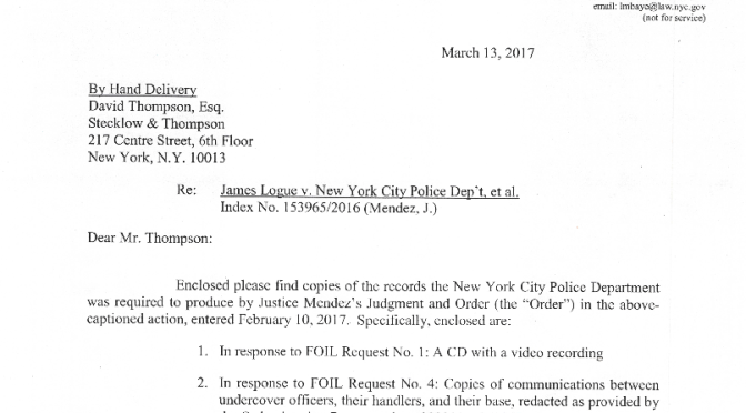 Logue v. NYPD Documents