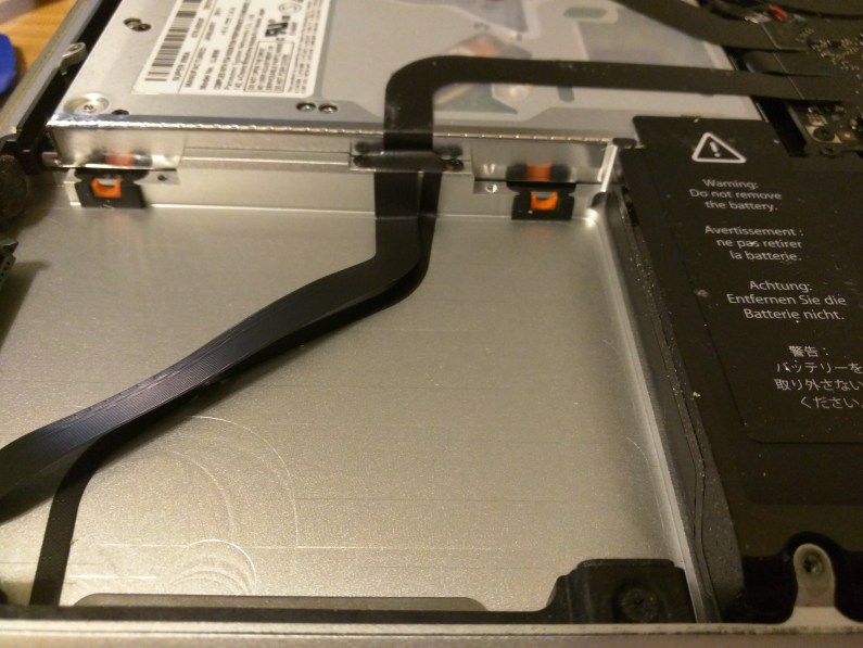 MBP hard drive removed