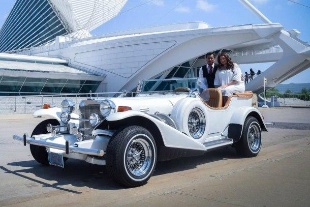 Excalibur classic car for wedding