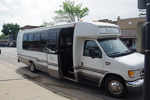 Outside Milwaukee Party Bus