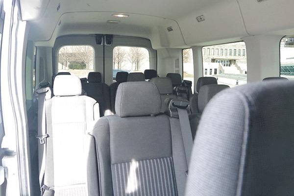 Inside Milwaukee Van Shuttle