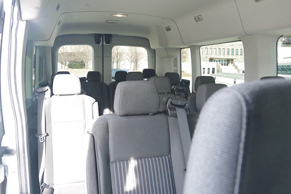 Inside Milwaukee Van Shuttle