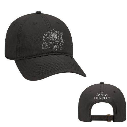 BLACK LF HAT (WHITE STITCHING)