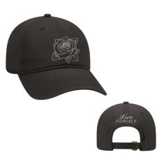 ROSE HAT (WHITE STITCHING)