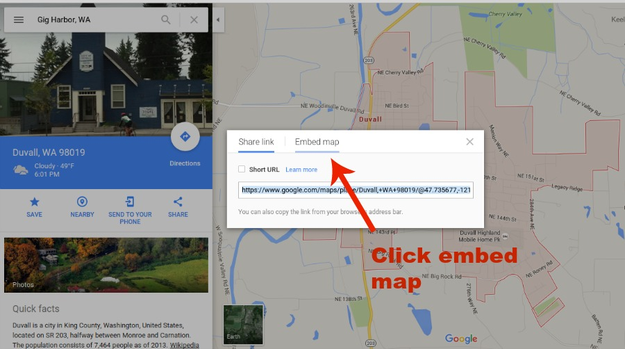 embed map