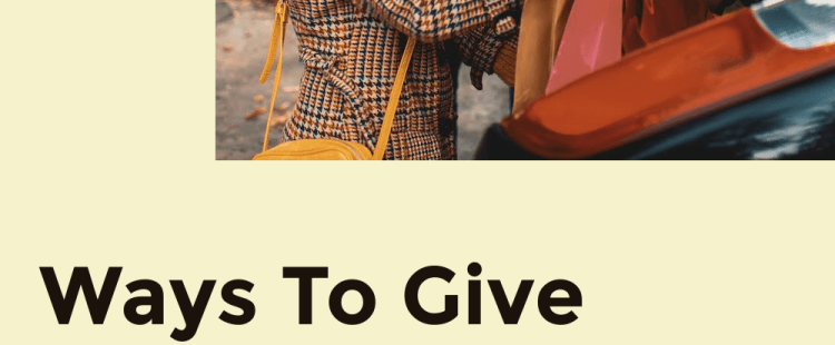 Ways To Give Without Spending Money