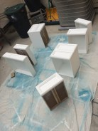 Drawers painted
