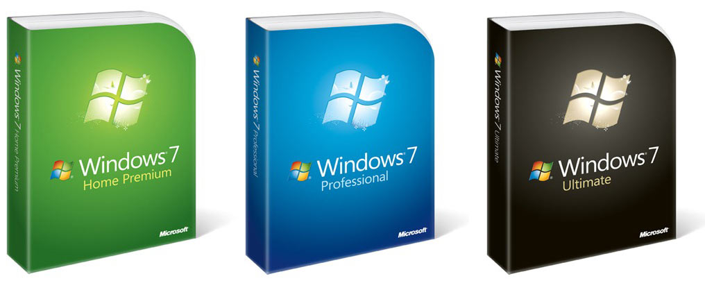 Caixas dos Windows 7