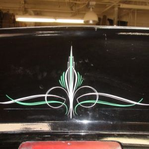 Photo s and images of custom painted pinstripe art on cars and     Gallery 1