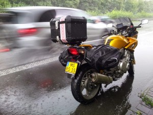 honda cbf1000a back side luggage