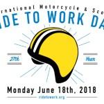 """18 июня день """"на работу на мотоцикле"""""""