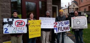 Jury Nullification Activists Outside Cheshire Superior Court in Keene, NH