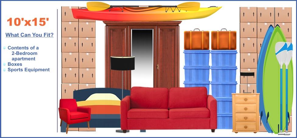 10x15 storage unit