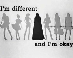 muslim girl standing next to non muslim girls
