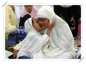 girl hugging her mum