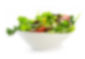 blurred picture of salad in a bowl