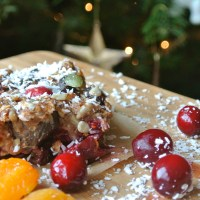 Cranberry and chestnut flapjacks