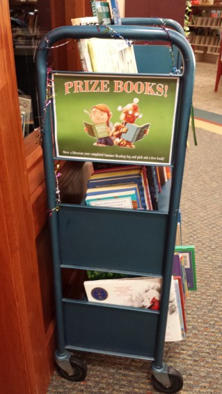 Prize books cart